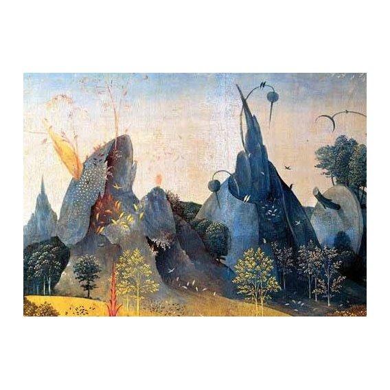 pinturas de paisagens - Quadro -Triptico: Jardin de las delicias, -Paisaje azul--