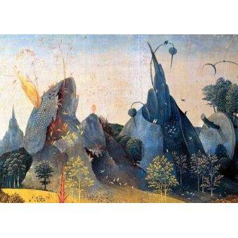 - Quadro -Triptico: Jardin de las delicias, -Paisaje azul-- - Bosco, El (Hieronymus Bosch)