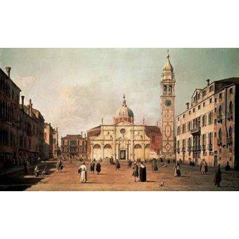 - Quadro -Venecia, -El campo Santa Maria Formosa-- - Canaletto, Giovanni A. Canal