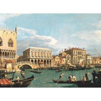 quadros de paisagens marinhas - Quadro -La Mole vista desde San Marco- - Canaletto, Giovanni A. Canal