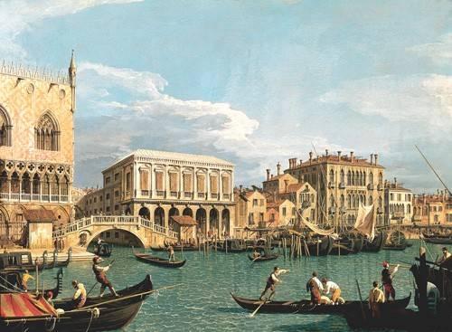 quadros-de-paisagens-marinhas - Quadro -La Mole vista desde San Marco- - Canaletto, Giovanni A. Canal
