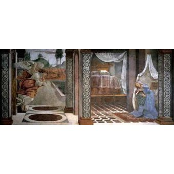 quadros religiosos - Quadro -Anunciación- - Botticelli, Alessandro