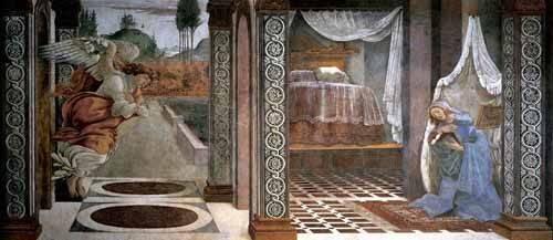 quadros-religiosos - Quadro -Anunciación (Botticelli) - - Botticelli, Alessandro