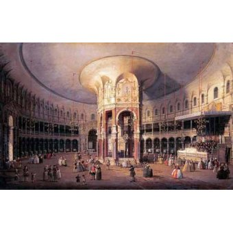 - Quadro -Interior de la Rotonda- - Canaletto, Giovanni A. Canal