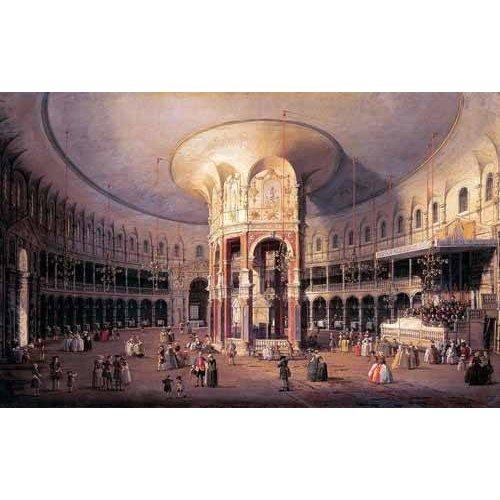 pinturas de paisagens - Quadro -Interior de la Rotonda-