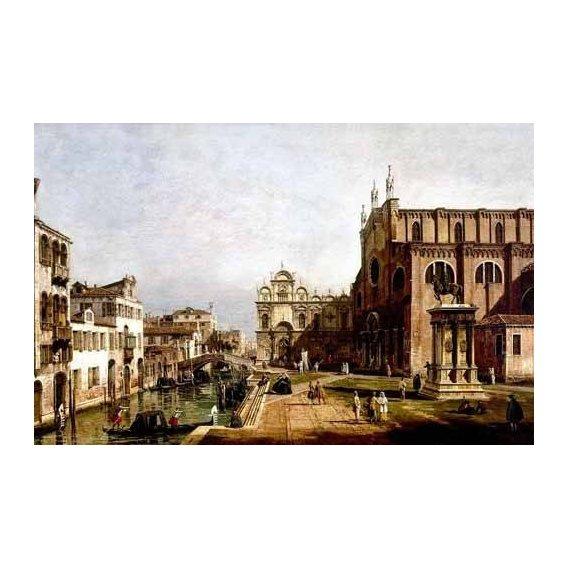 pinturas de paisagens - Quadro -Vista de Venecia, Iglesia de Santi Giovani-