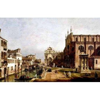 - Quadro -Vista de Venecia, Iglesia de Santi Giovani- - Canaletto, Giovanni A. Canal