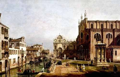 quadros-de-paisagens - Quadro -Vista de Venecia, Iglesia de Santi Giovani- - Canaletto, Giovanni A. Canal