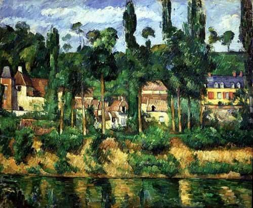 quadros-de-paisagens - Quadro -El castillo de Medan- - Cezanne, Paul