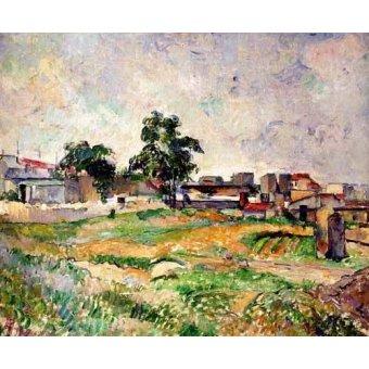 - Quadro -Paisaje cerca de París- - Cezanne, Paul