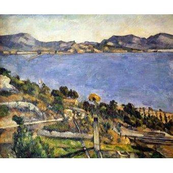 - Quadro -La bahía de Marsella desde L´Estaque- - Cezanne, Paul