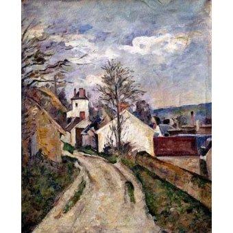 - Quadro -La casa del doctor Gachet en Auvers- - Cezanne, Paul
