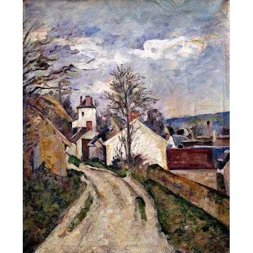 pinturas de paisagens - Quadro -La casa del doctor Gachet en Auvers-