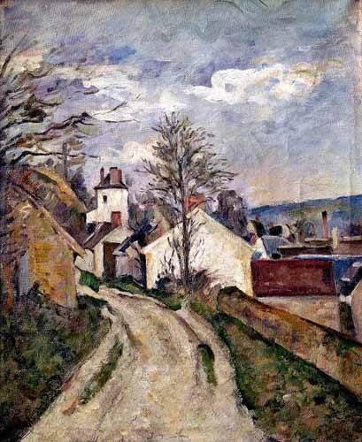 quadros-de-paisagens - Quadro -La casa del doctor Gachet en Auvers- - Cezanne, Paul