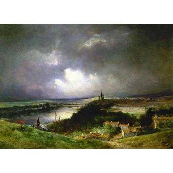 - Quadro -Paisaje con el río- - Constable, John