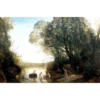 - Quadro -Pastoril- - Corot, J. B. Camille