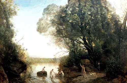 quadros-de-paisagens - Quadro -Pastoril- - Corot, J. B. Camille