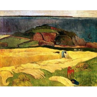 - Quadro -La siega- - Gauguin, Paul