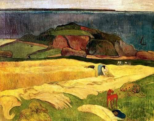 quadros-de-paisagens - Quadro -La siega- - Gauguin, Paul