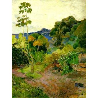 - Quadro -Paisaje de la Martinica- - Gauguin, Paul