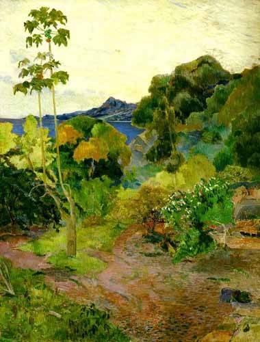 quadros-de-paisagens - Quadro -Paisaje de la Martinica- - Gauguin, Paul