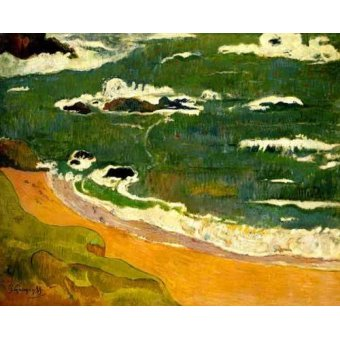- Quadro -Playa de Le Poldu- - Gauguin, Paul