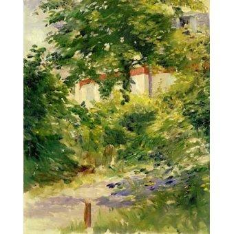 - Quadro -Un rincón del jardín de Rueil- - Manet, Eduard