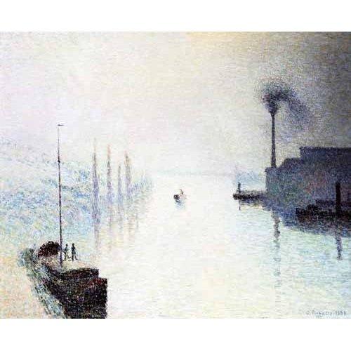 Quadro -La isla Lacroix Rouen efecto de niebla-