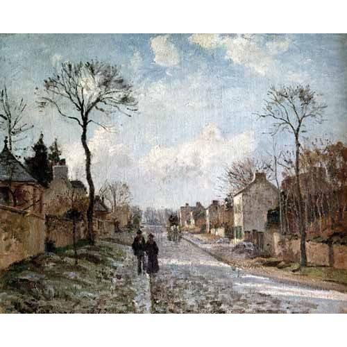 pinturas de paisagens - Quadro -La isla Lacroix Rouen efecto de niebla-