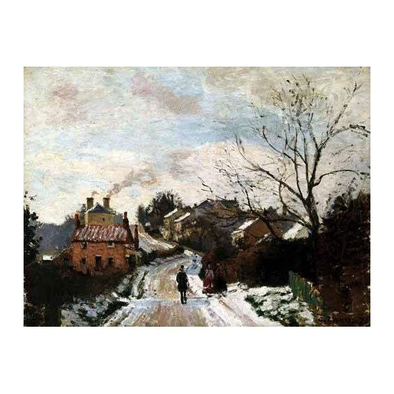 pinturas de paisagens - Quadro -Paisaje de invierno en Louveciennes-