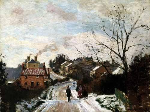 quadros-de-paisagens - Quadro -Lower Norwood bajo la nieve- - Pissarro, Camille