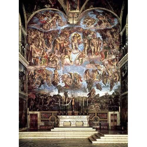 religious paintings - Picture -Retablo: Juicio final-