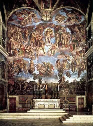 religious paintings - Picture -Retablo: Juicio final- - Buonarroti, Miguel Angel