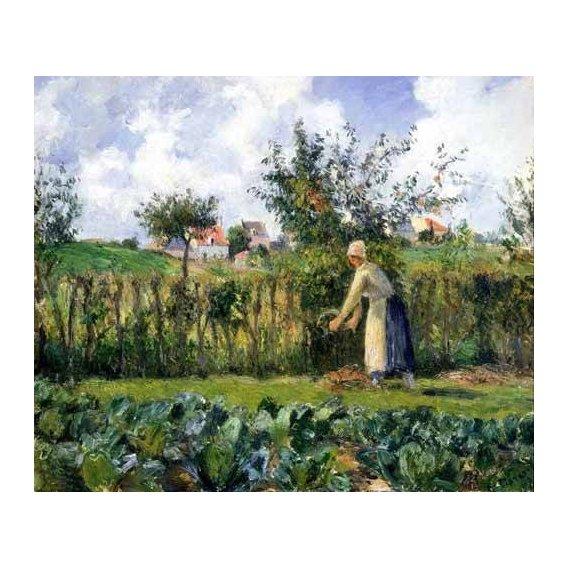 pinturas de paisagens - Quadro -The cutting of the hedge-