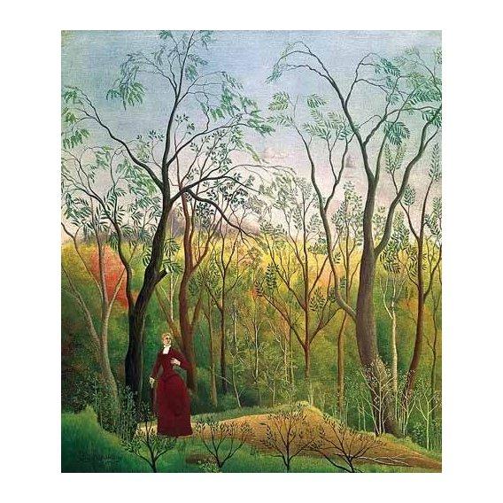 pinturas de paisagens - Quadro -Paseo por el bosque-