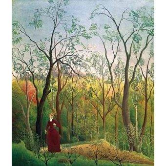 - Quadro -Paseo por el bosque- - Rousseau, Henri