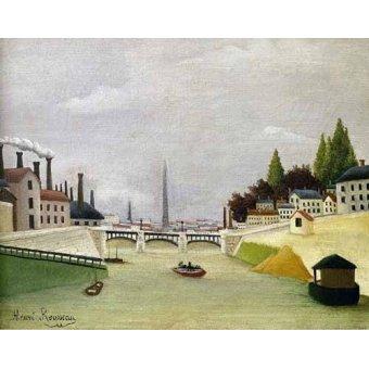 - Quadro -Pont de Paris- - Rousseau, Henri
