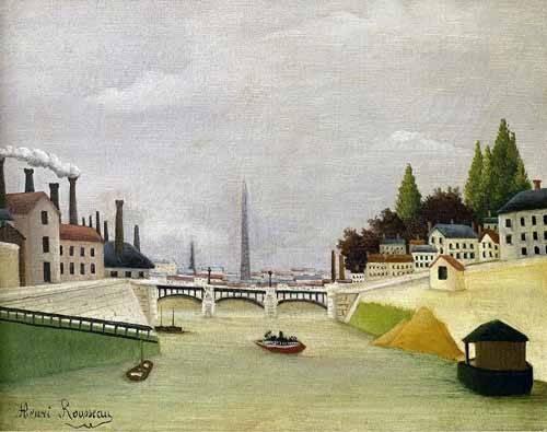 quadros-de-paisagens - Quadro -Pont de Paris- - Rousseau, Henri