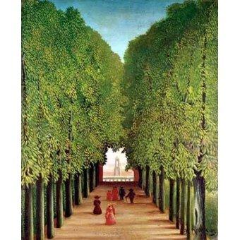 - Quadro -Avenida del parque Saint Cloud- - Rousseau, Henri