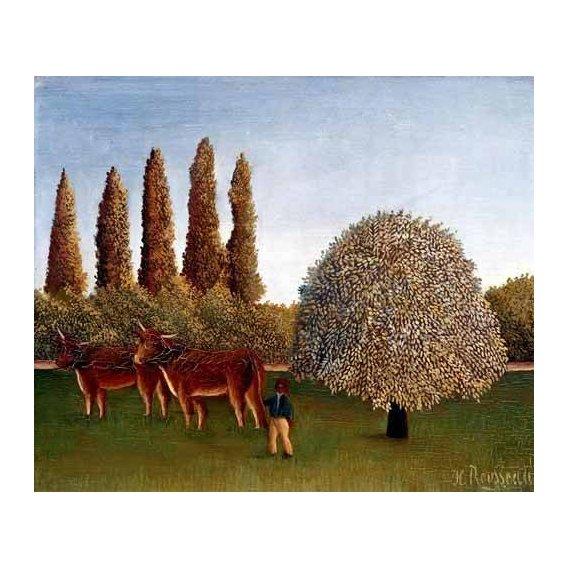 pinturas de paisagens - Quadro -Paisaje con vacas-