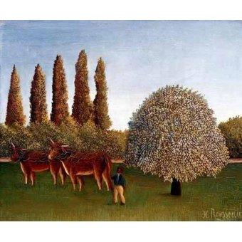 - Quadro -Paisaje con vacas- - Rousseau, Henri