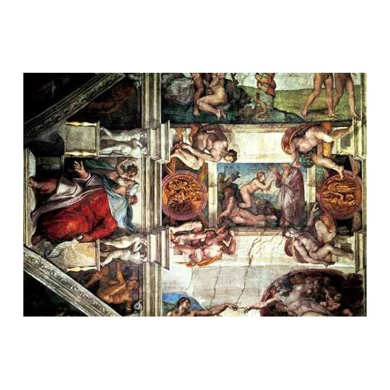 religious paintings - Picture -Bóveda: Creación de Eva, le Profeta Ezequiel-