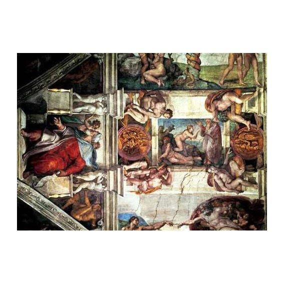 imagens religiosas - Quadro -Bóveda: Creación de Eva, le Profeta Ezequiel-
