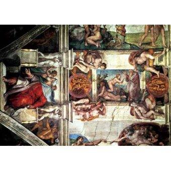quadros religiosos - Quadro -Bóveda: Creación de Eva, le Profeta Ezequiel- - Buonarroti, Miguel Angel