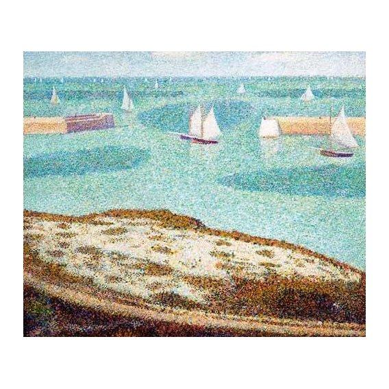pinturas de paisagens marinhas - Quadro -Entrada al puerto-