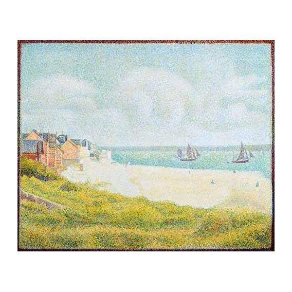 pinturas de paisagens marinhas - Quadro -Vista desde Crotoy desde el sur-