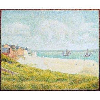 quadros de paisagens marinhas - Quadro -Vista desde Crotoy desde el sur- - Seurat, Georges