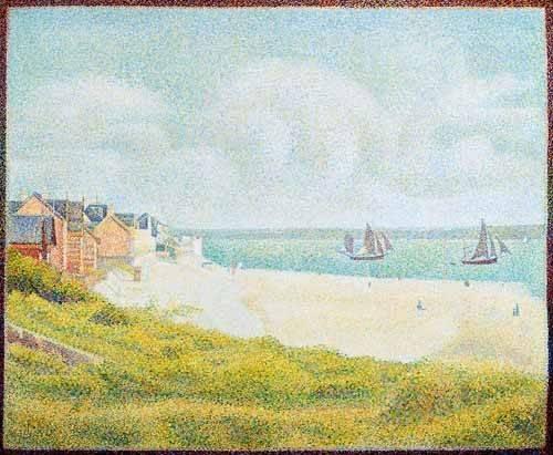 quadros-de-paisagens-marinhas - Quadro -Vista desde Crotoy desde el sur- - Seurat, Georges