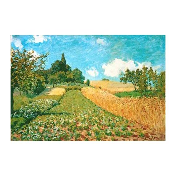 pinturas de paisagens - Quadro -Campo de trigo-