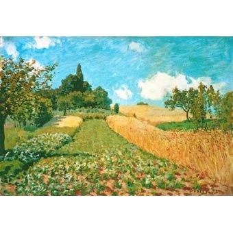 landscapes - Picture -Campo de trigo- - Sisley, Alfred